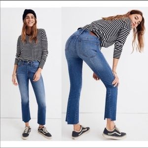 Madewell Cali Demi Boot Jeans Size 28